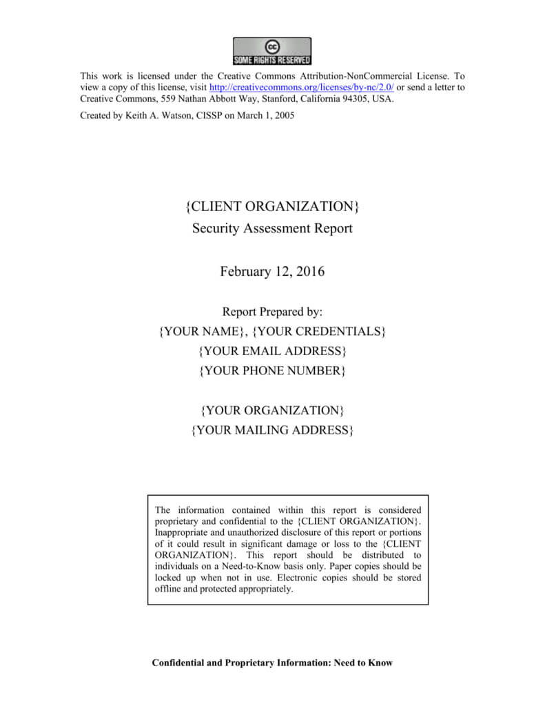 Security Assessment Report Template pertaining to Threat Assessment Report Template
