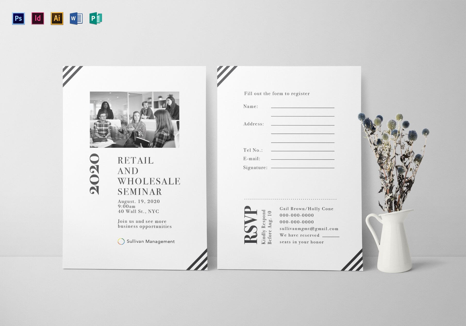Seminar Invitation Card Template Intended For Seminar Invitation Card Template