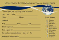 Send Your First Time Church Visitor A Followup Letter regarding Church Visitor Card Template