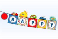 Sesame Street Banner – Elmo Cookie Monster Big Bird Oscar intended for Sesame Street Banner Template