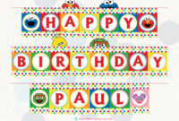 Sesame Street Printable Birthday Banner With Name throughout Sesame Street Banner Template