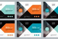 Set Abstract Background Template Design For Social Media Post.. inside Social Media Brochure Template
