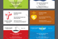 Set Christian Business Cards For The Church regarding Christian Business Cards Templates Free