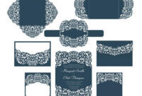 Set Laser Cut Wedding Invitation Templates Card / Envelope throughout Silhouette Cameo Card Templates
