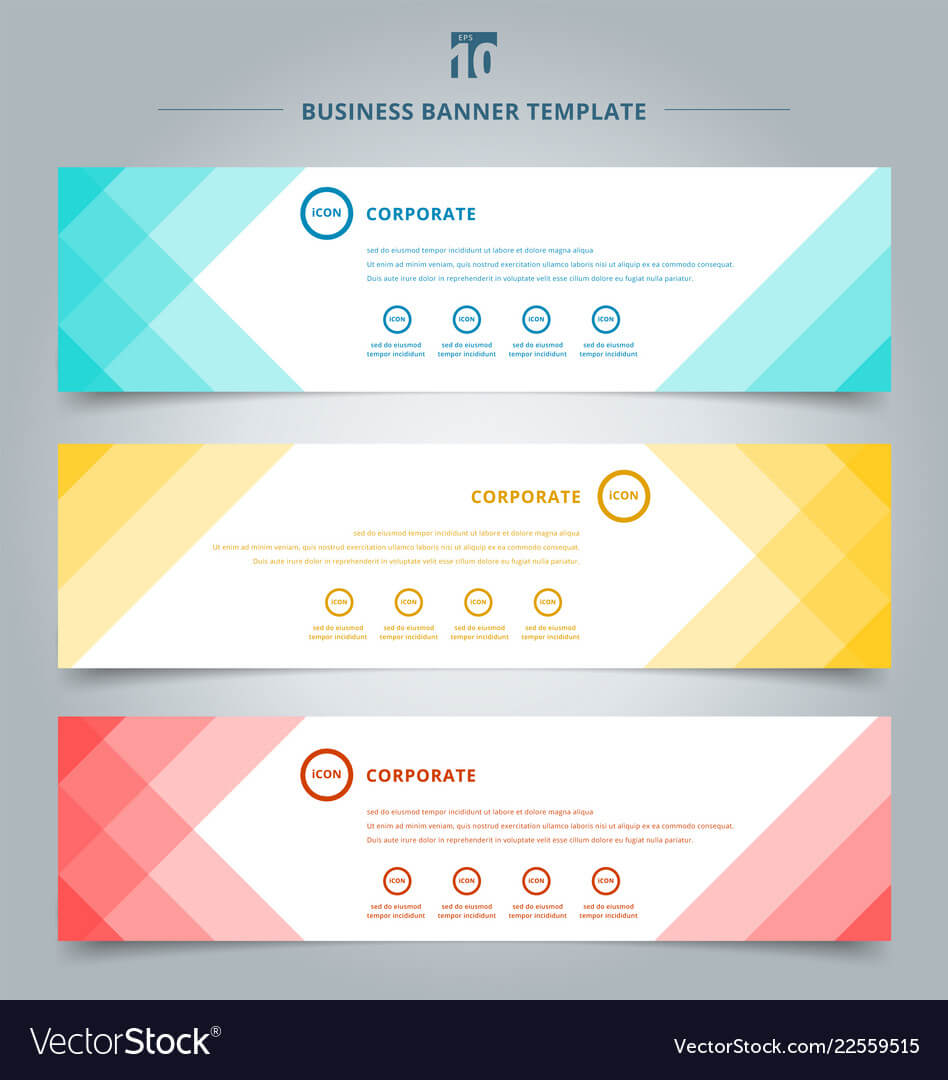 Set Of Banner Web Templates Geometric Header throughout Website Banner Templates Free Download