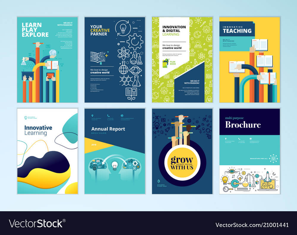 Set Of Brochure Design Templates Of Education Inside Brochure Design Templates For Education