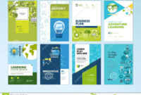 Set Of Brochure Design Templates On The Subject Of Education in Brochure Design Templates For Education
