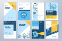 Set Of Brochure Design Templates On The Subject Of Education,.. within Online Free Brochure Design Templates