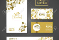 Set Of Business Cards. Templates For Wine Company in Company Business Cards Templates