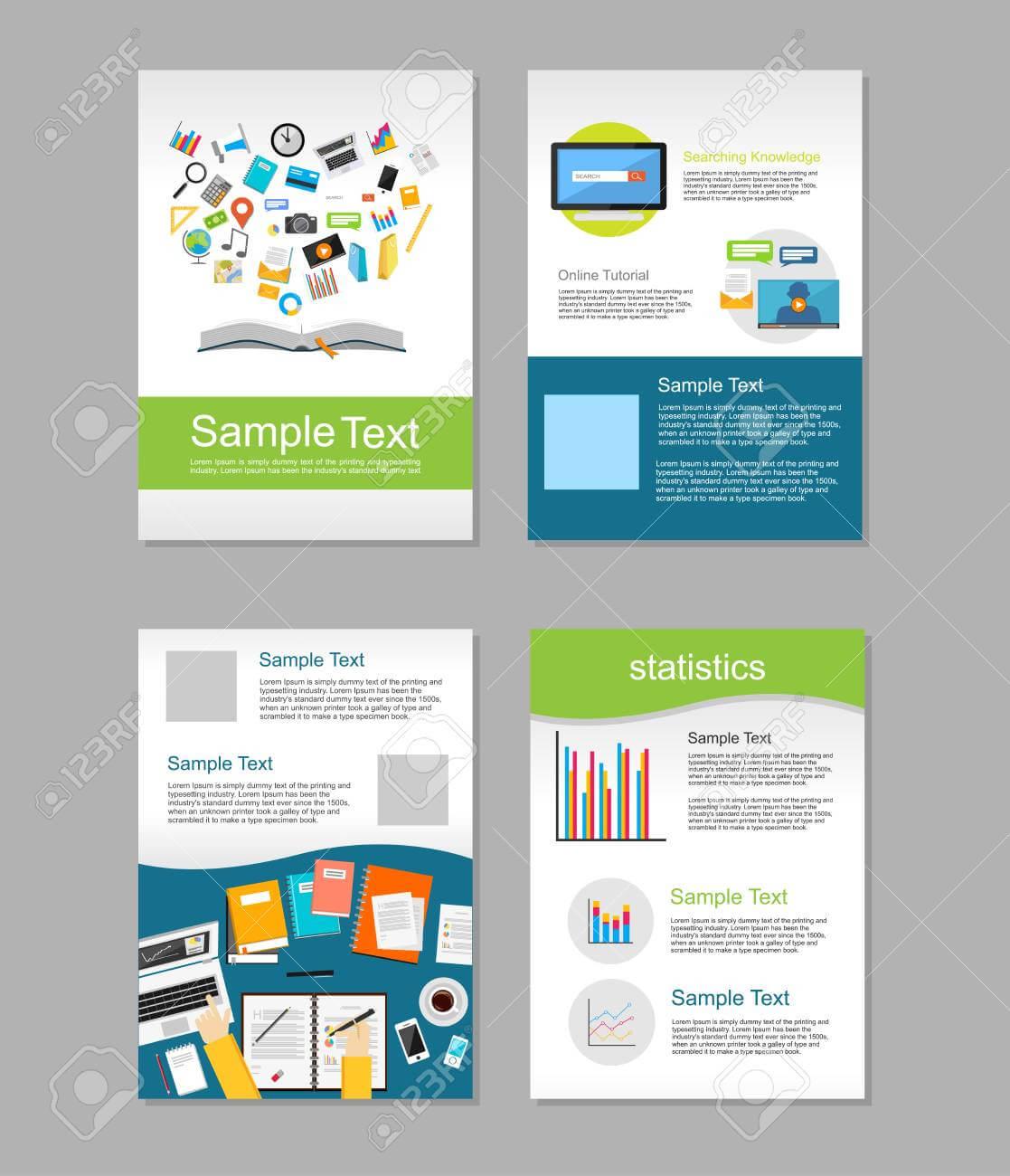 Set Of Flyer. Brochure Design Templates. Education Infographic.. With E Brochure Design Templates