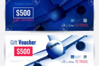 Set Of Gift Travel Voucher Template. Gift Certificate For A Intended For Free Travel Gift Certificate Template
