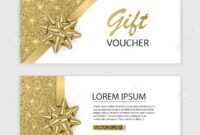 Set Of Gift Voucher Card Template, Advertising Or Sale. Template.. with Advertising Card Template
