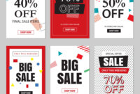 Set Of Sale Website Banner Templates intended for Free Online Banner Templates