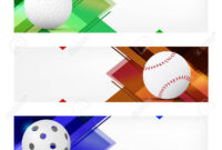 Set Of Sport Banner Templates With Ball And Sample Text In Separate.. inside Sports Banner Templates