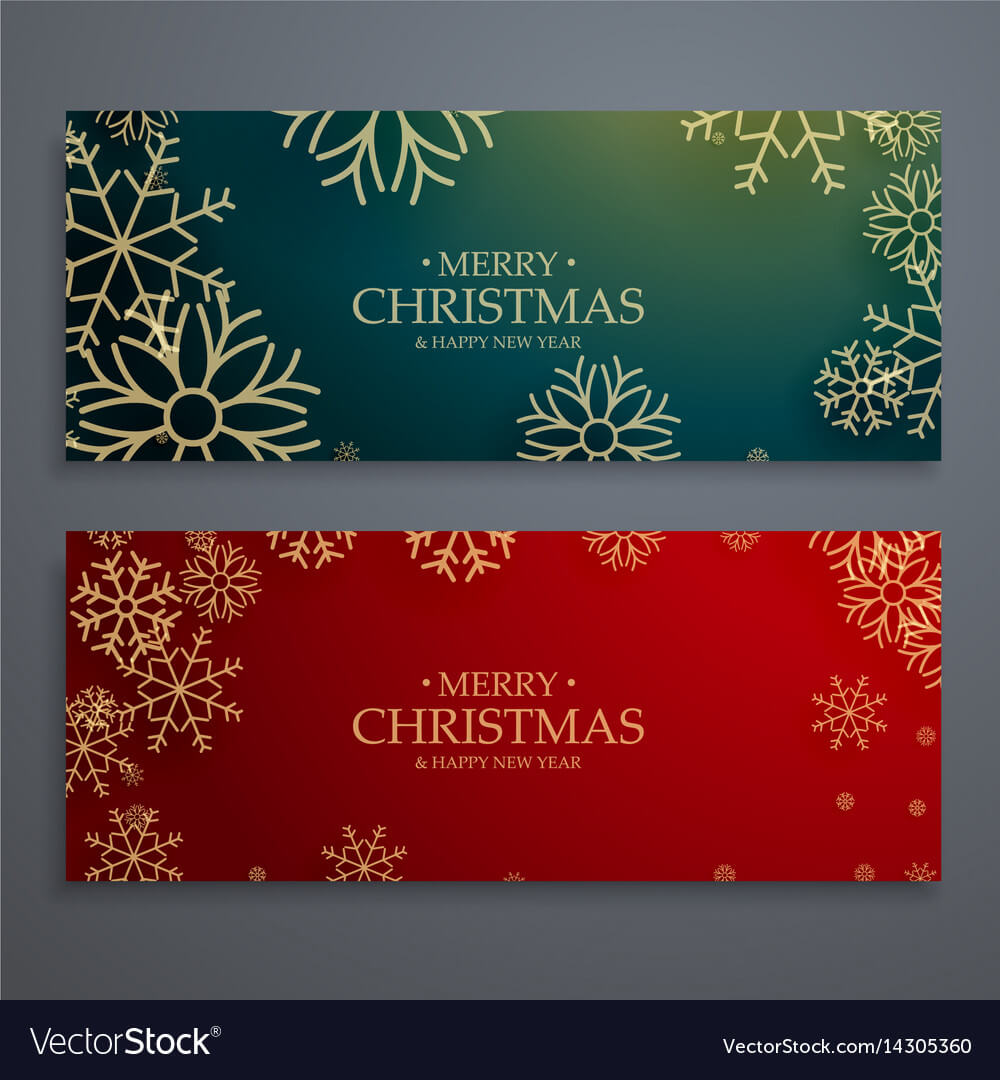 Set Of Two Merry Christmas Banners Template In With Regard To Merry Christmas Banner Template