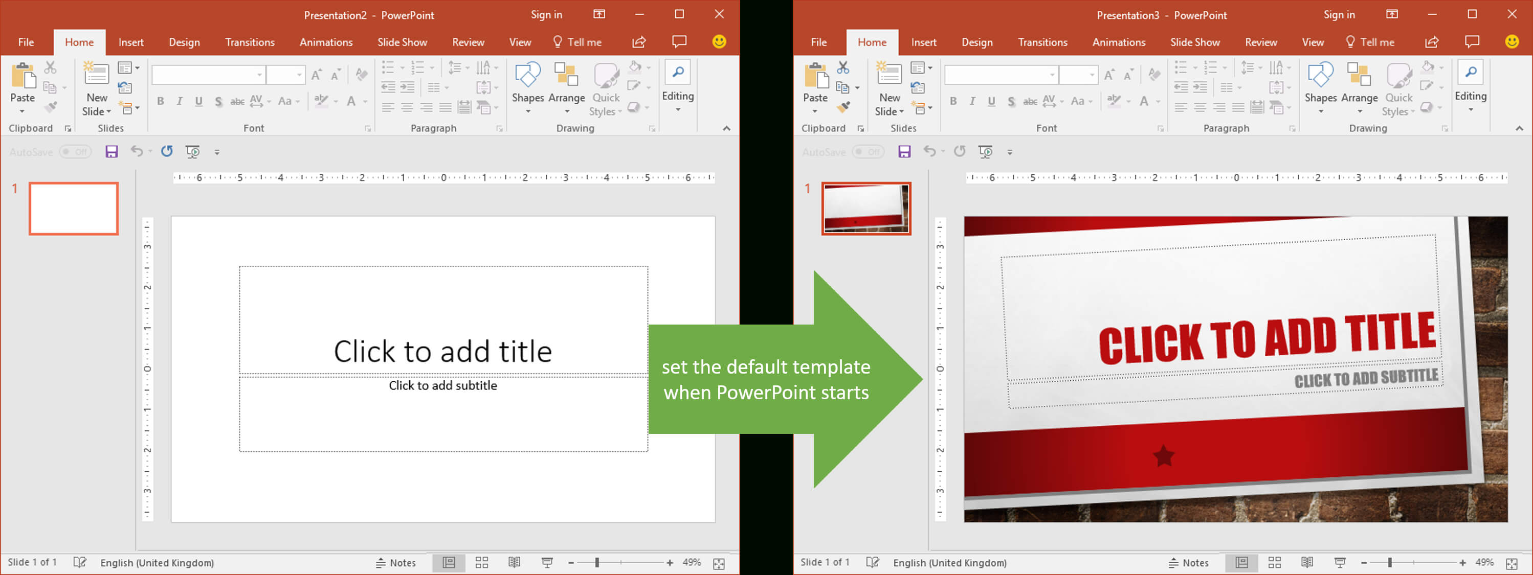 Set The Default Template When Powerpoint Starts | Youpresent For Powerpoint Default Template