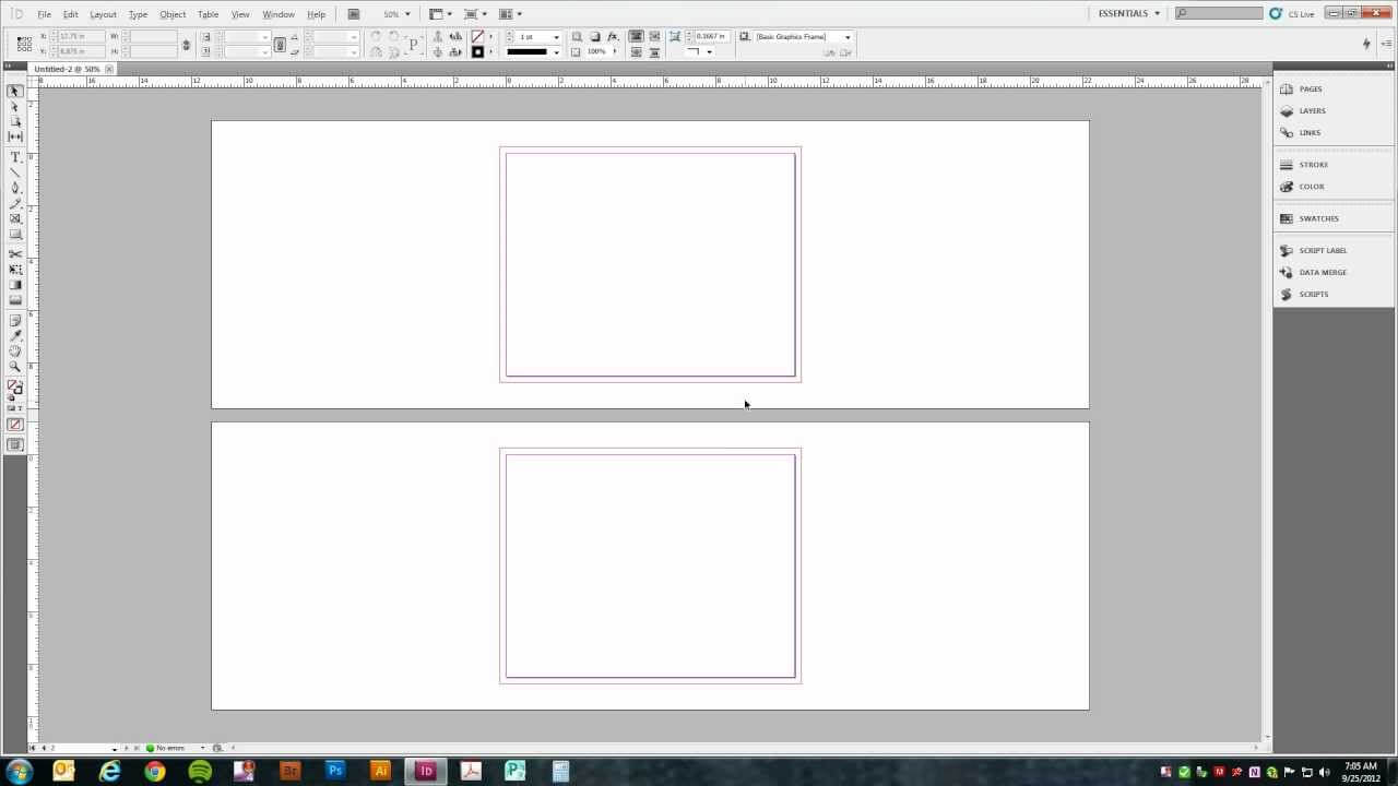 Setting Up A Trifold Brochure In Adobe Indesign  Cs5  Pertaining To Gate Fold Brochure Template