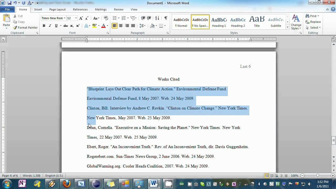 Setting Your Essay To Mla Format In Word intended for Mla Format Word Template