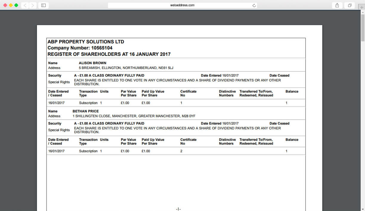Share Certificates   Thecompanywarehouse.co.uk for Share Certificate Template Companies House