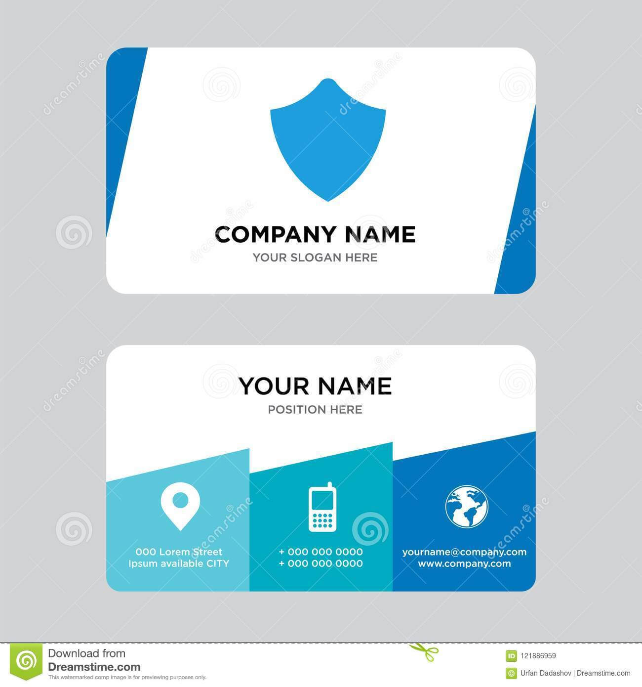 Shield Business Card Design Template, Visiting For Your with regard to Shield Id Card Template