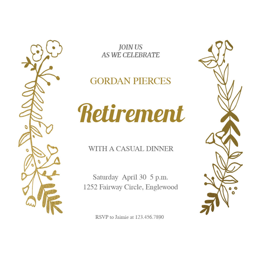 Sideside Gold - Free Retirement & Farewell Party pertaining to Farewell Certificate Template