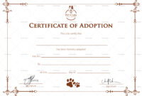 Simple Adoption Certificate Template Regarding Blank Adoption Certificate Template