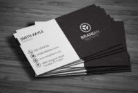Simple Black & White Business Cardmadearslan On within Black And White Business Cards Templates Free