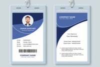 Simple Corporate Id Card Design Template for Company Id Card Design Template