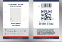 Simple Employee Business Name Card Template Vector Stock intended for Pvc Id Card Template
