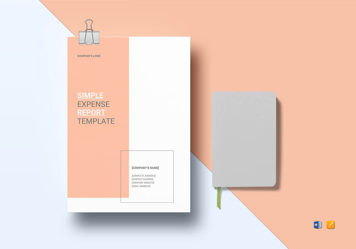 Simple Expense Report Template Intended For Simple Report Template Word