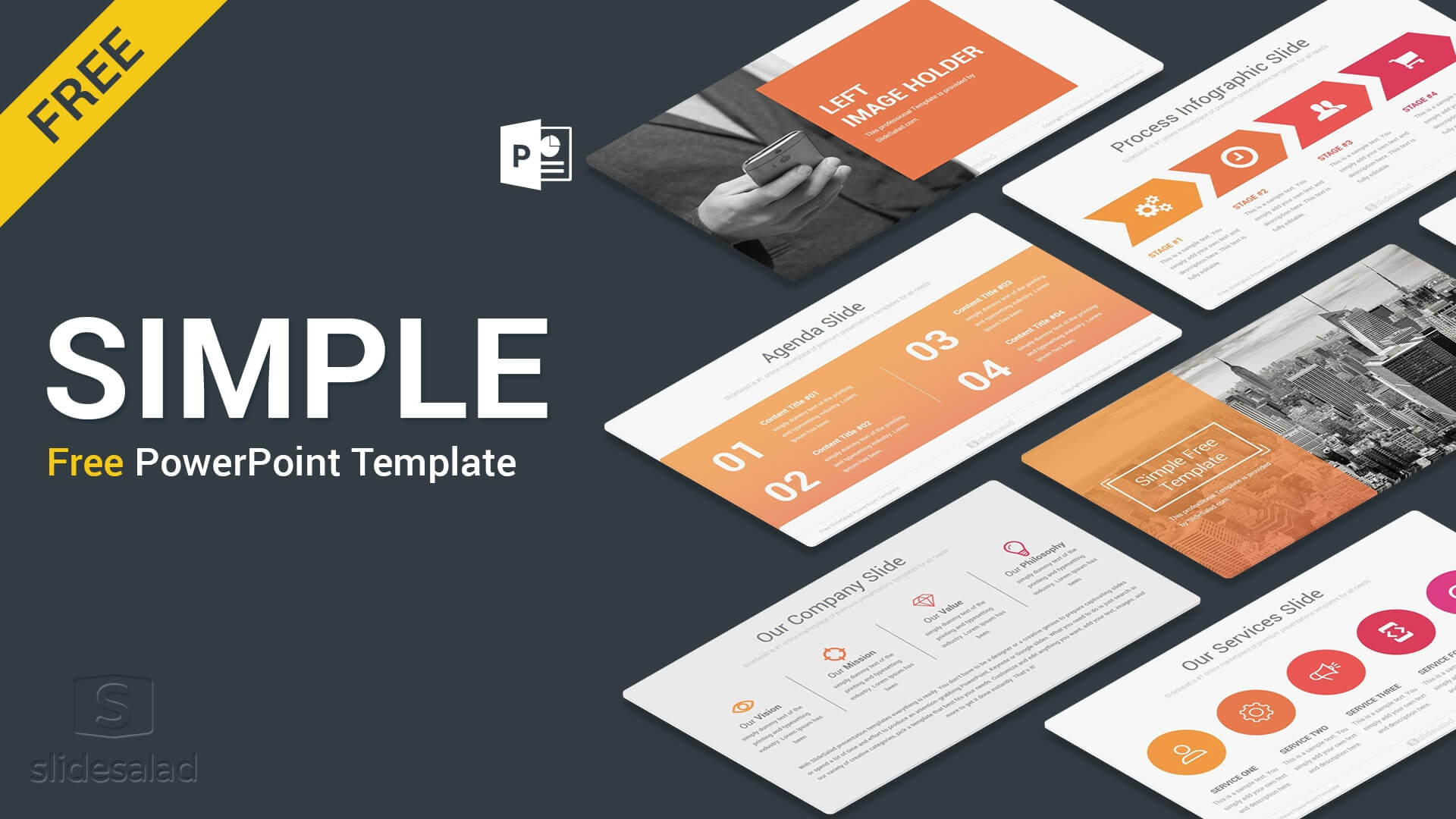 Simple Free Powerpoint Presentation Template - Free Download inside Free Powerpoint Presentation Templates Downloads