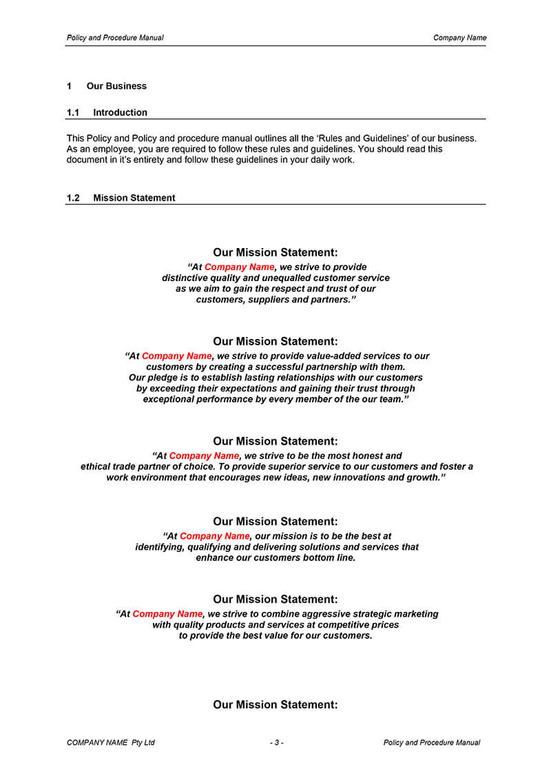 Simple Procedures Manual Template – Teplates For Every Day within Procedure Manual Template Word Free