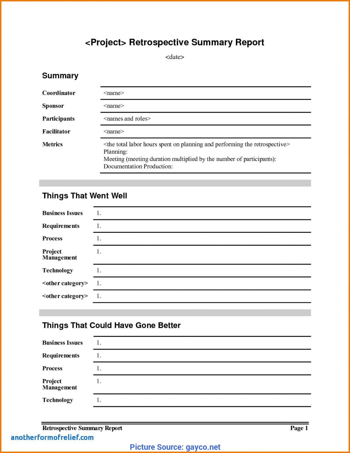 Simple Project Lessons Learnt Template Lessons Learnt Report inside Lessons Learnt Report Template