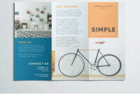Simple Tri Fold Brochure | Free Indesign Template regarding One Page Brochure Template