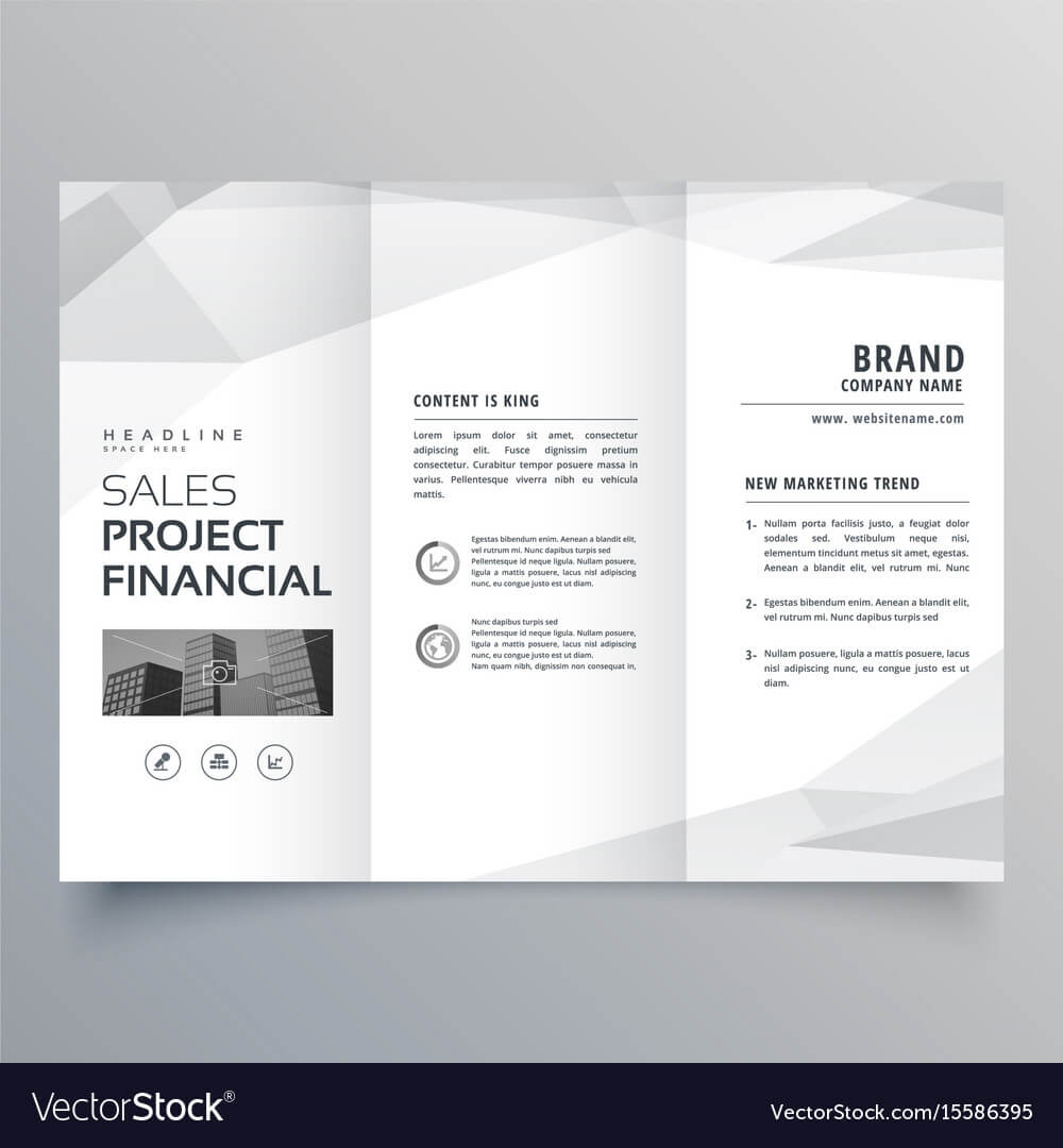 Simple Trifold Brochure Template Design With regarding One Page Brochure Template