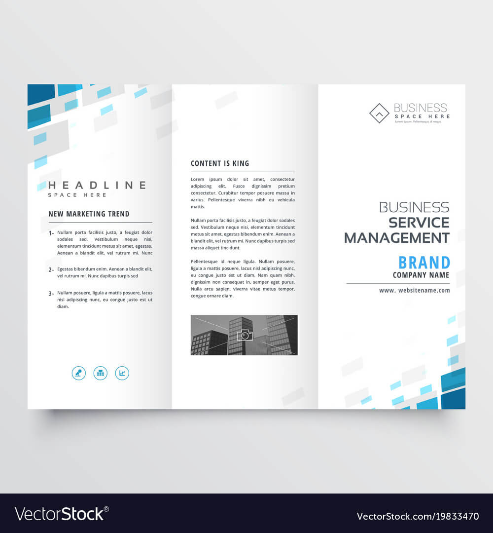 Simple Trifold Business Brochure Template Design intended for One Page Brochure Template