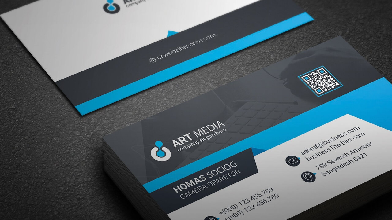 Simple Visiting Card Design Free Download Business Psd with regard to Visiting Card Illustrator Templates Download