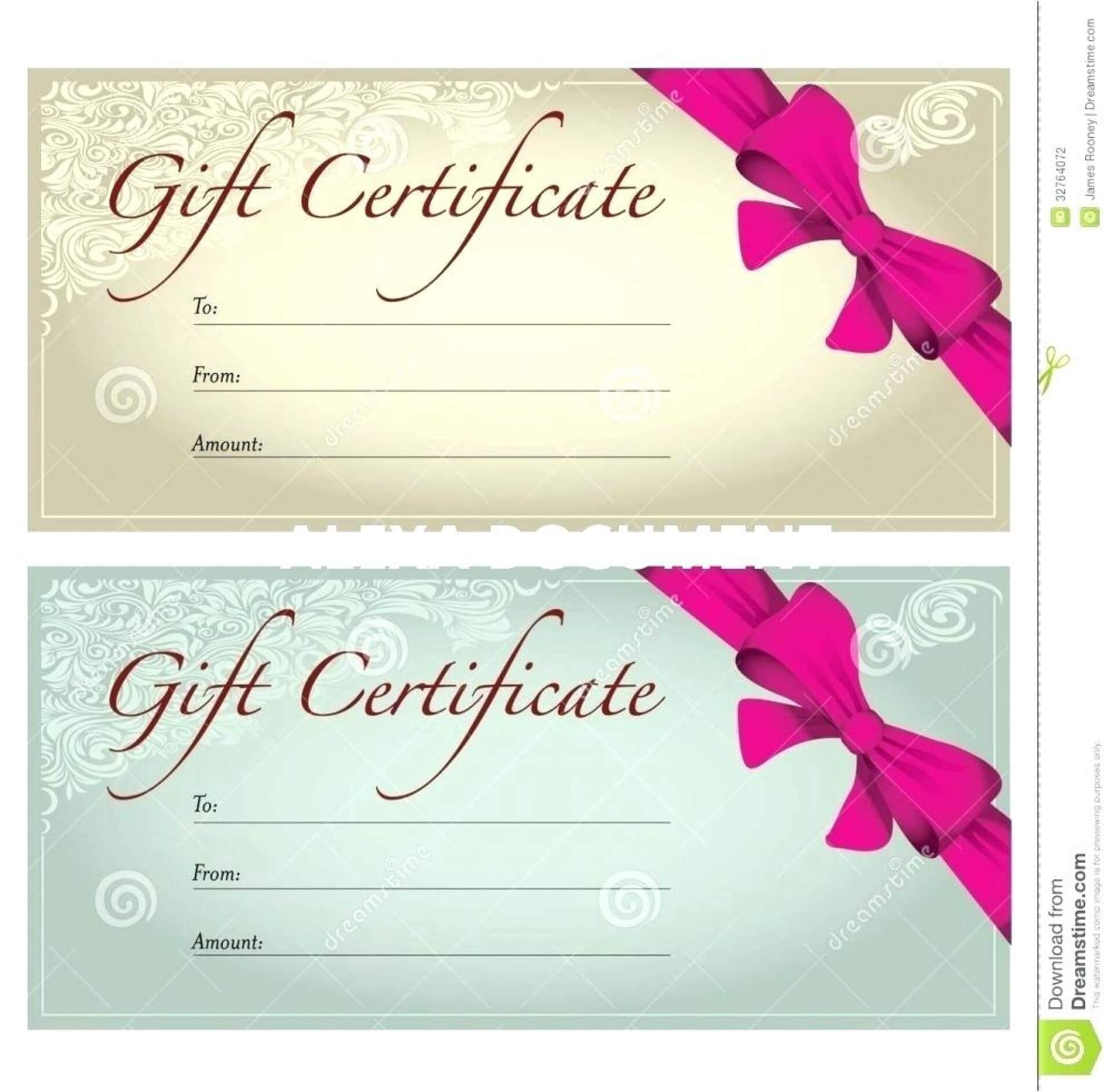 Singular Salon Gift Certificates Templates Template Ideas For Salon Gift Certificate Template