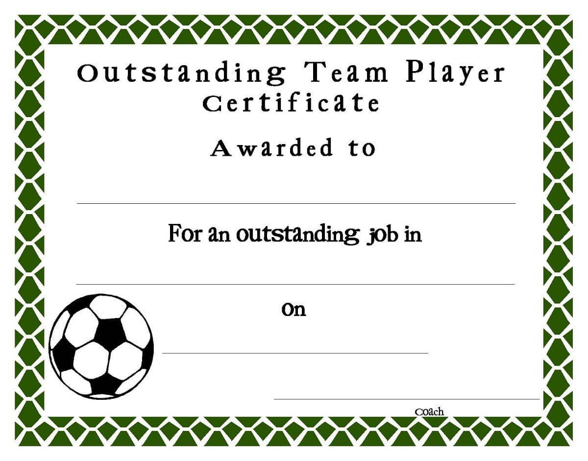 Soccer Award Certificates Template | Kiddo Shelter | Blank With Regard To Soccer Award Certificate Templates Free