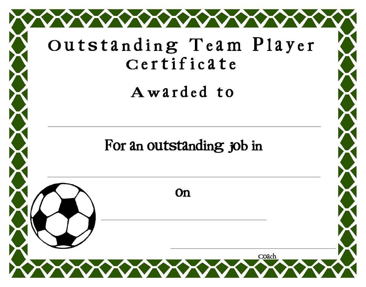 Soccer Award Certificates Template | Kiddo Shelter Throughout Football Certificate Template