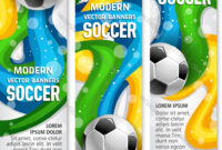 Soccer Ball Banner Of Football Sport Club Template in Sports Banner Templates