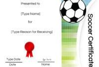 Soccer Certificate Template Free – Atlantaauctionco With Soccer Certificate Template Free