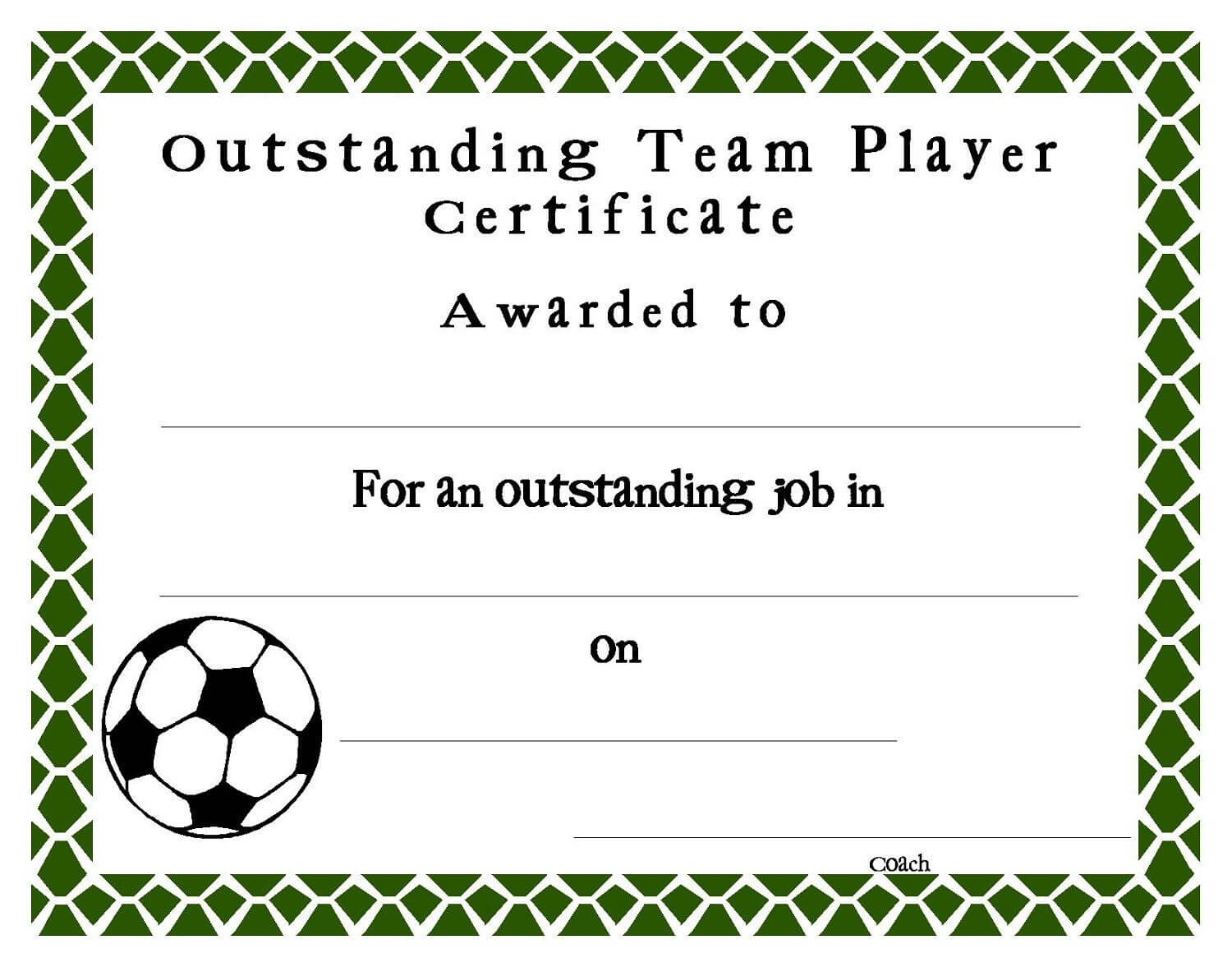 Soccer Certificate Templates Blank   K5 Worksheets with regard to Free Softball Certificate Templates