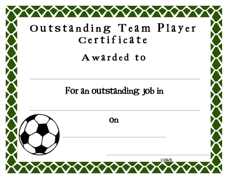 Soccer Certificate Templates Blank | K5 Worksheets With Regard To Soccer Certificate Template