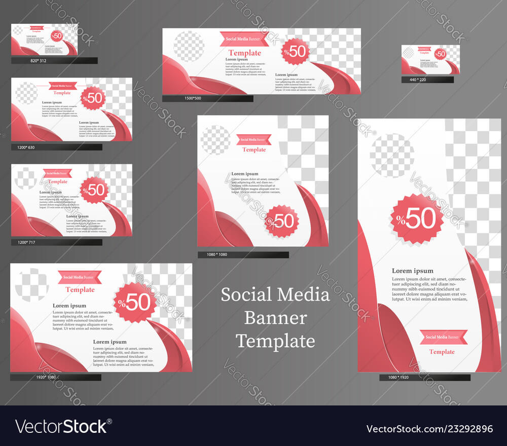 Social Media Banner Template Set within Product Banner Template