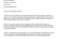 Social Media Cover Letter Example | Resume Genius pertaining to Letter Of Interest Template Microsoft Word