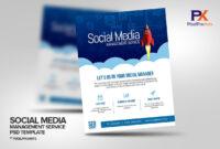 Social Media Management Service Flyer Template regarding Social Media Brochure Template