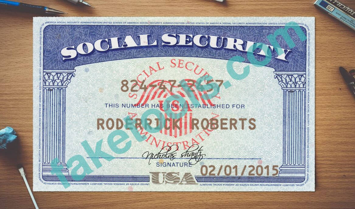 Social Security Card Psd Template | Psd Templates | Psd intended for Editable Social Security Card Template