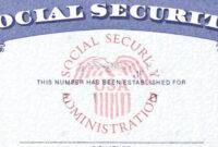 Social Security Card Template Psd – Atlantaauctionco inside Editable Social Security Card Template