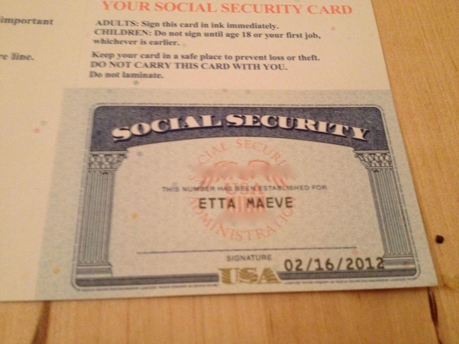 Social Security Card Template | Trafficfunnlr within Fake Social Security Card Template Download